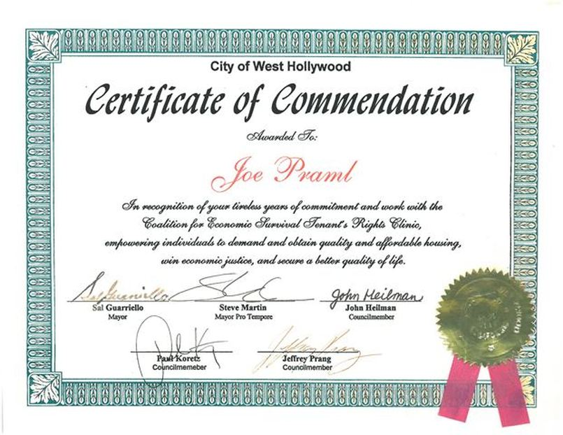 Example of certificate of recognition romeondinez example spiritdancerdesigns Image collections